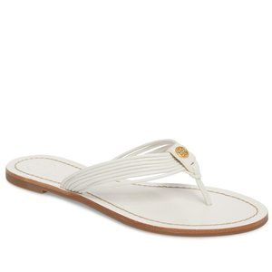 TORY BURCH Sienna Strappy Thong Sandal White 8.5